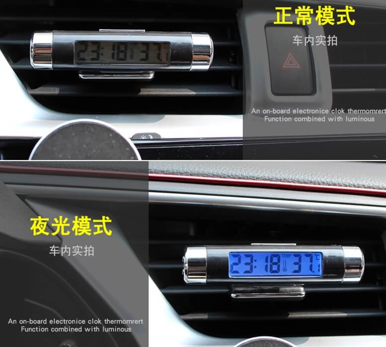 2 In 1 Digital Car Clock Temperature With Backlight Jetcycle